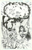 Fallout 3000 Issue 1 Page Cover (1996) Comic Art
