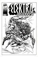 Elektra #6 Un-Used Cover (1997) Comic Art