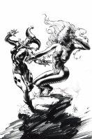 Harley Quinn Vs. Poison Ivy Pinup Comic Art