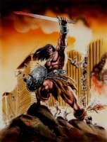 Conan The Barbarian #165 Cover Painting (Brazilian Issue) 1990s Comic Art