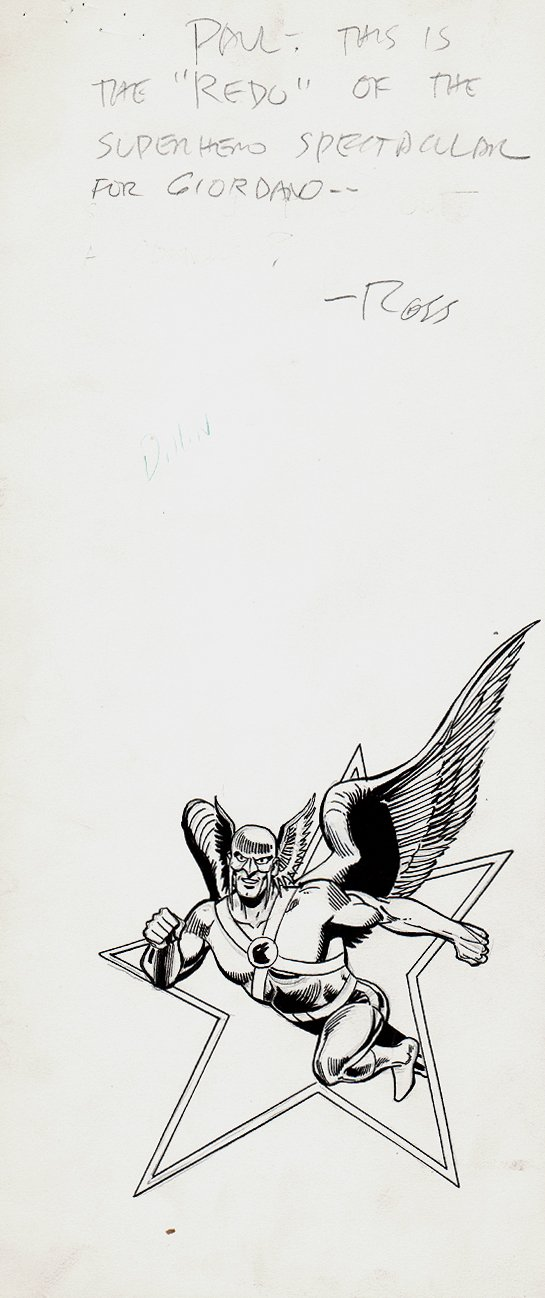 Hawkman Pinup Used For Possible Cover (1970s)