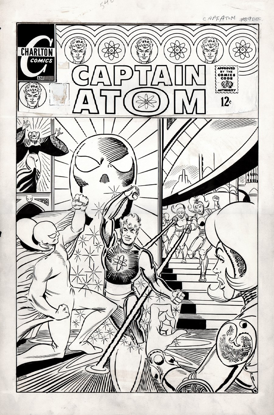Captain Atom #90 Cover (LARGE ART) 1967