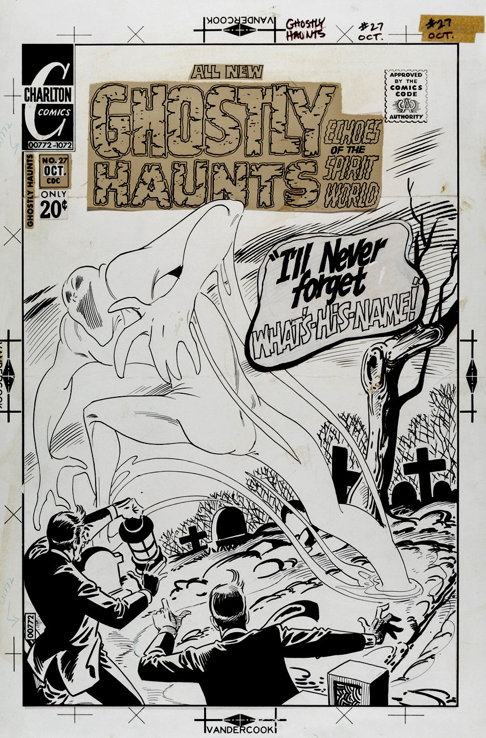 Ghostly Haunts #27 Cover (Large Art) 1972
