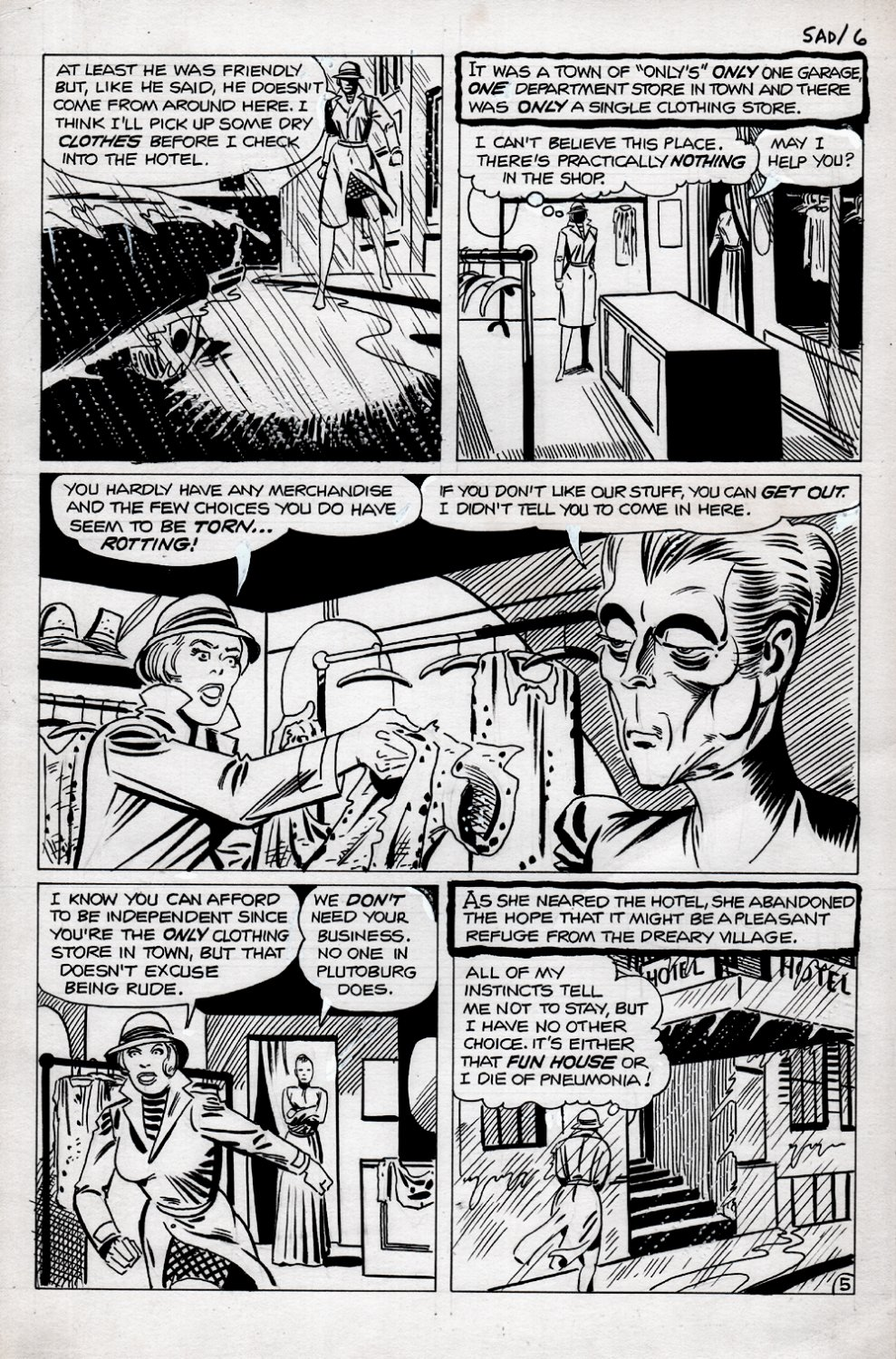 Haunted #36 p 5 (PENCILS AND INKS DITKO!) 1978