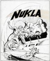 Nukla #4 Cover (LARGE ART) 1966  Comic Art