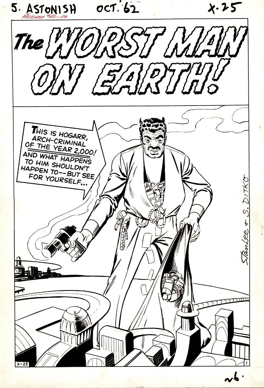 Tales to Astonish #40 p 1 SPLASH (Large Art) 1962
