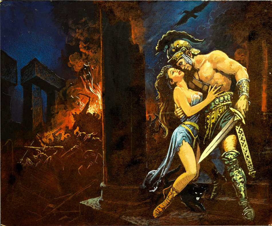 Romance Paperback Cover Painting (Large Art)