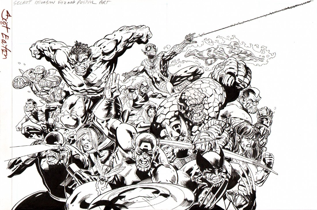 WIZARD Magazine -Secret Invasion Poster Art