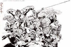 WIZARD Magazine -Secret Invasion Poster Art Comic Art