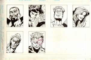 X-Men Unlimited  Issue 12 Page Six Pinups Comic Art