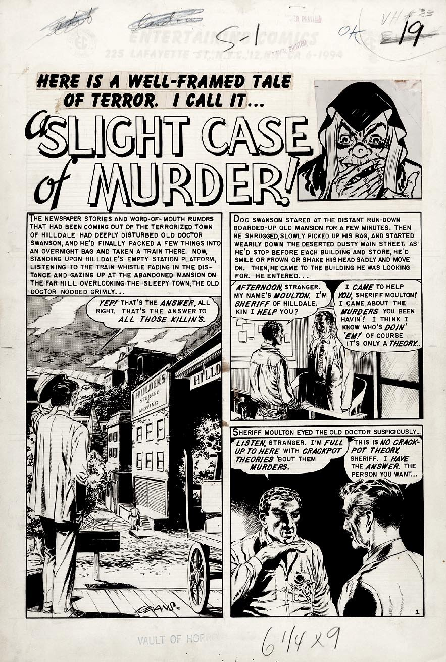 Vault of Horror #33 p 1 SPLASH (Large Art) 1953