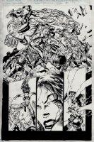 Cyberforce #21 p 2 Semi-Splash (1996) Comic Art