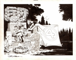 Fantastic Four: Home Depot Wraparound Cover  Comic Art
