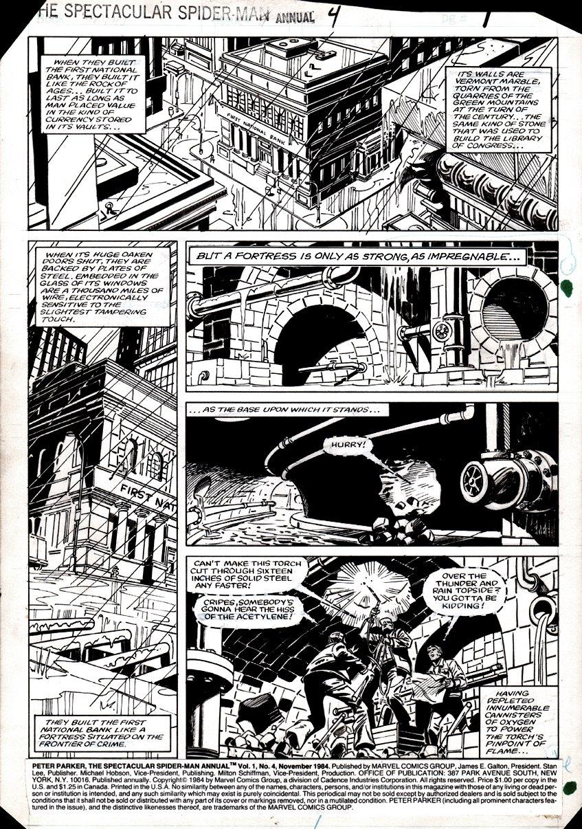 Spectacular Spider-Man Annual #4 p 1 1984