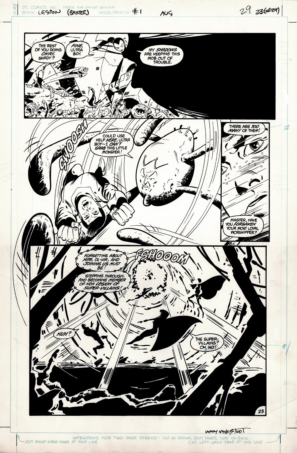 Legion of Super-Heroes #1 p 23 (Large Art) 1984