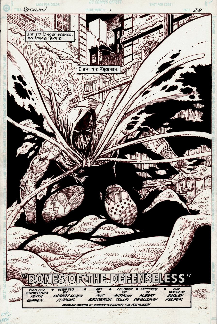 Ragman #1 SPLASH (1991)