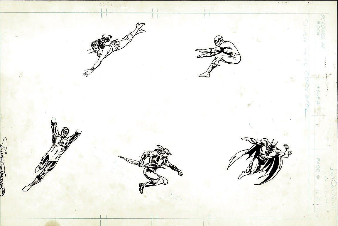 DC Super Hero Cook Book Art Drawings