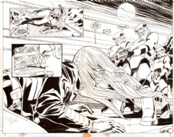 Birds of Prey Issue 12 Page 2-3 Double Spread Splash Comic Art