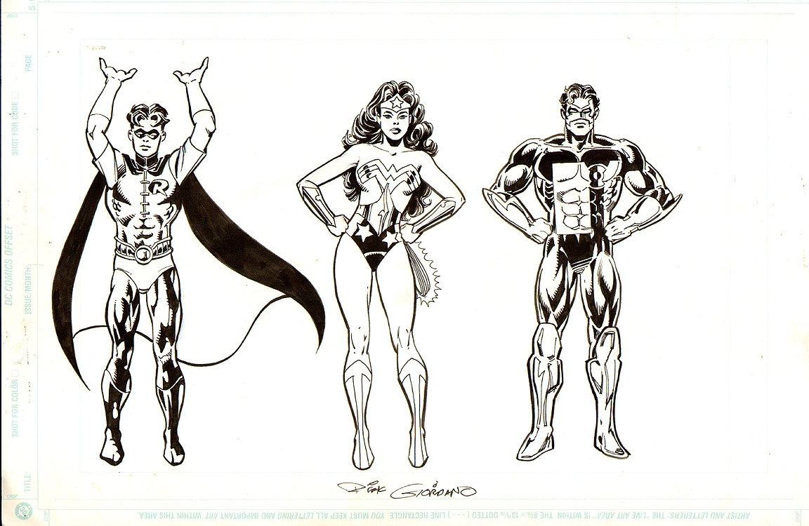 Wonder Woman, Robin, Green Lantern DC Licensing Art