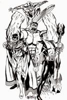 Defenders Large Pinup! Comic Art