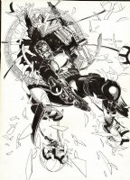The Punisher #51 Cover  (HUGE) 1991 Page pt Comic Art