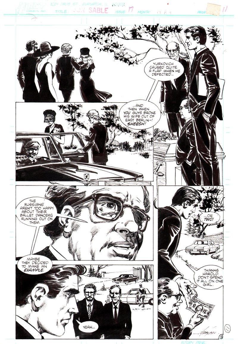 Jon Sable Freelance #17 p 9 (1984)