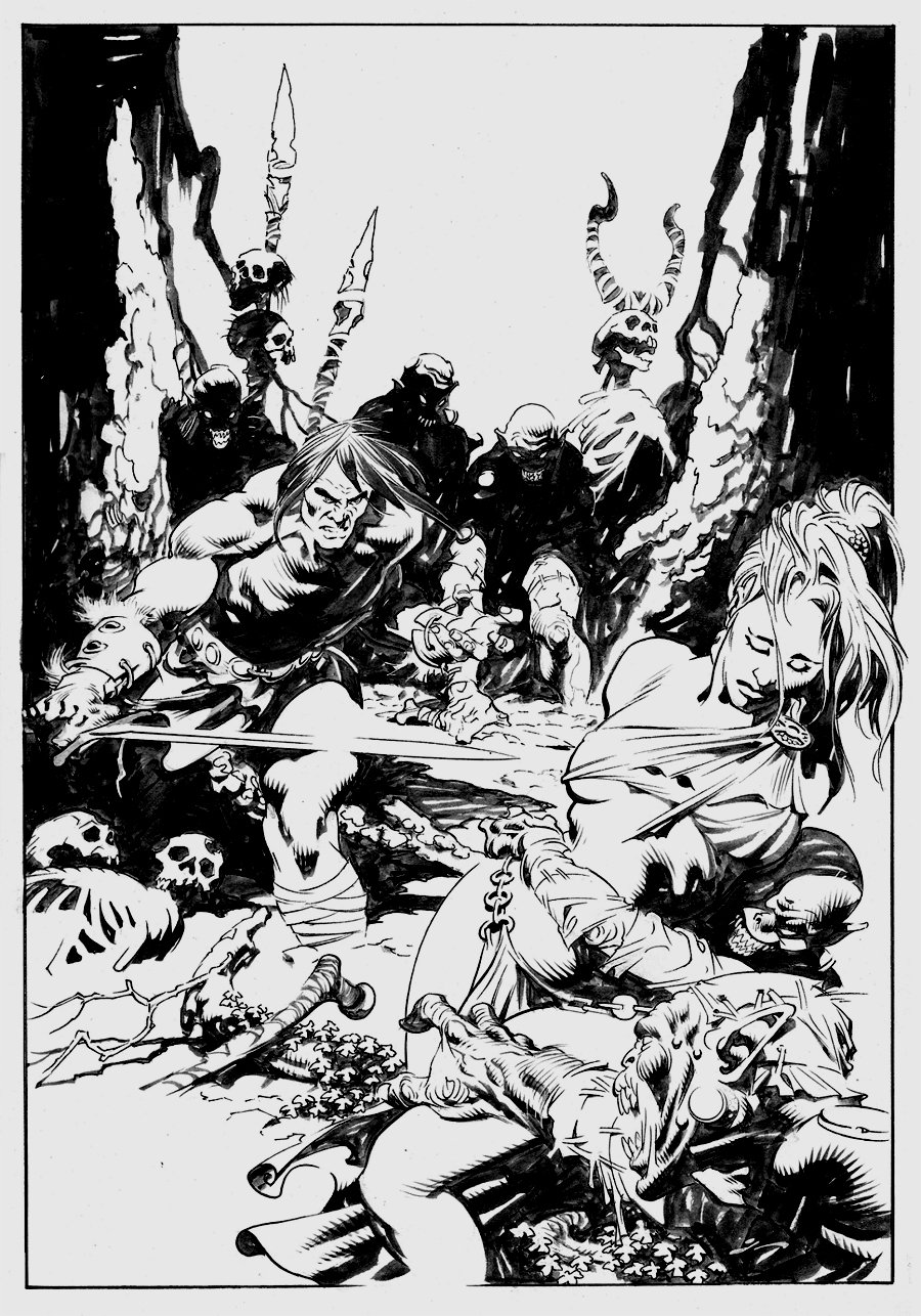 Conan the Slayer #12 Cover (Over-Sized) 2017