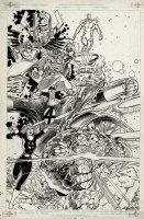 Fantastic Four / Villaqins Poster mArt 9Large) 1994 Comic Art