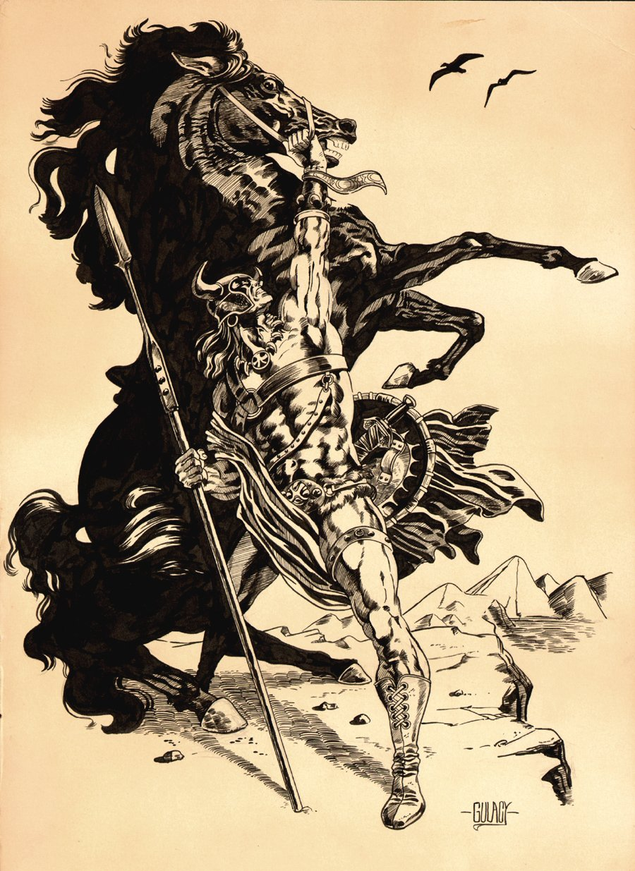 Large Unpublished Savage Sword Of Conan Pinup (1975)