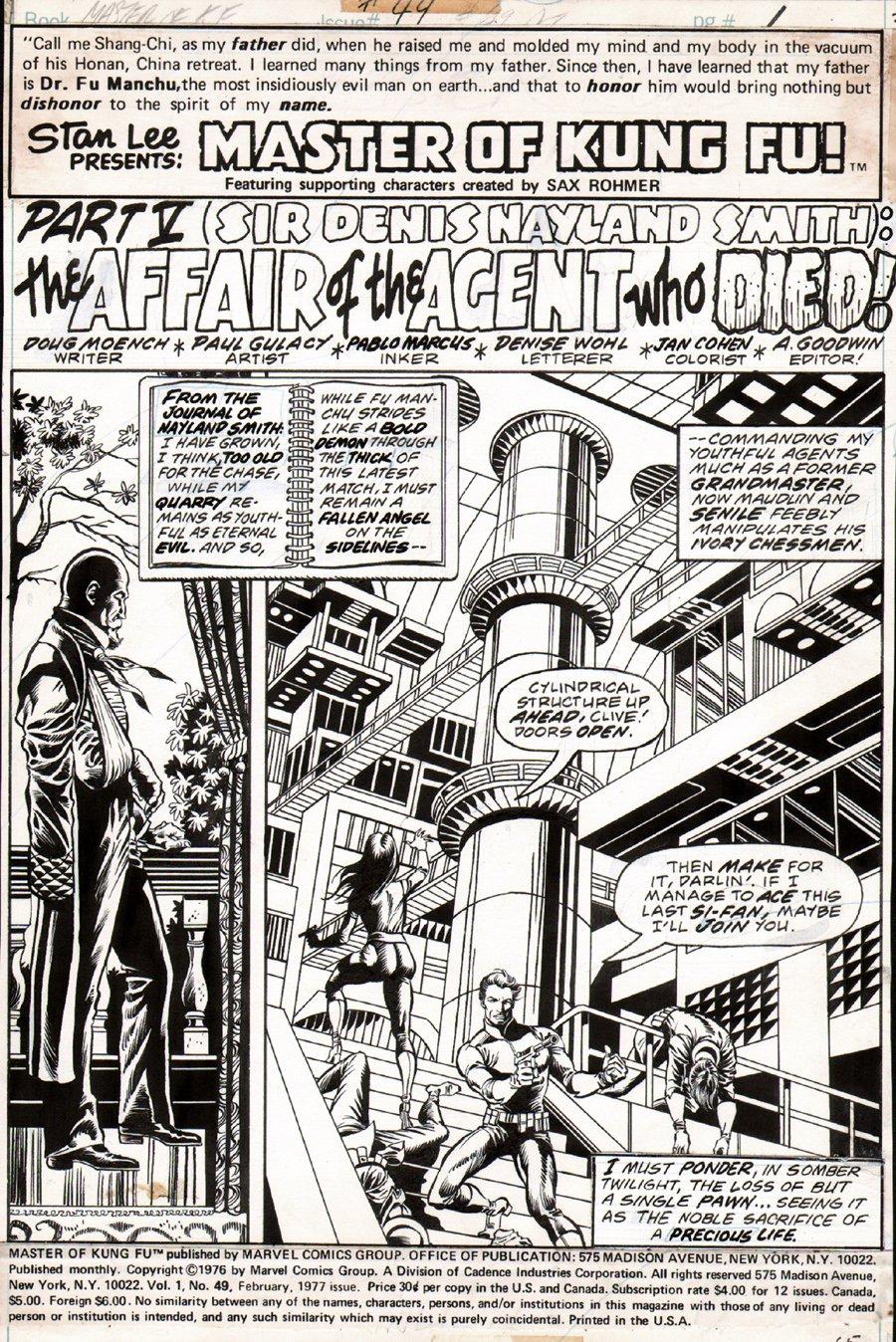 Master of Kung Fu #49 p 1 SPLASH (1976)