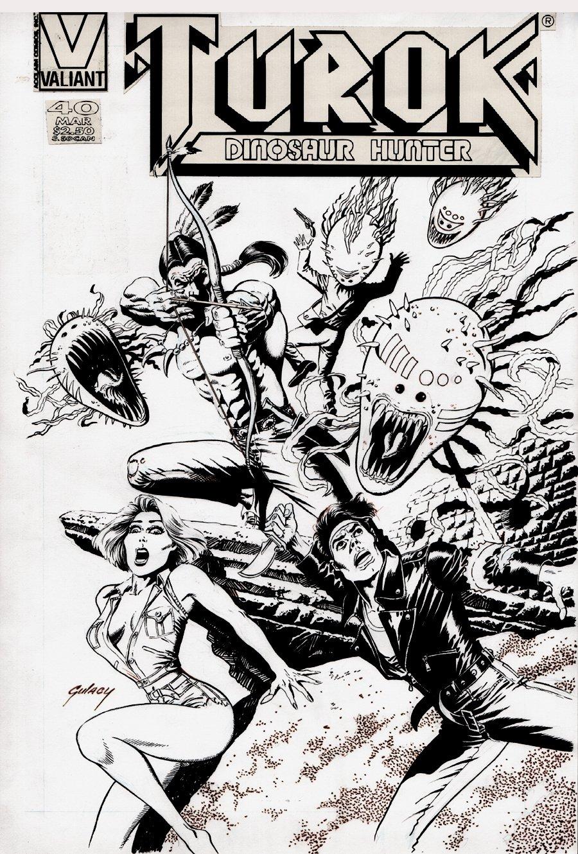 Turok, Dinosaur Hunter #40 Cover (1995)