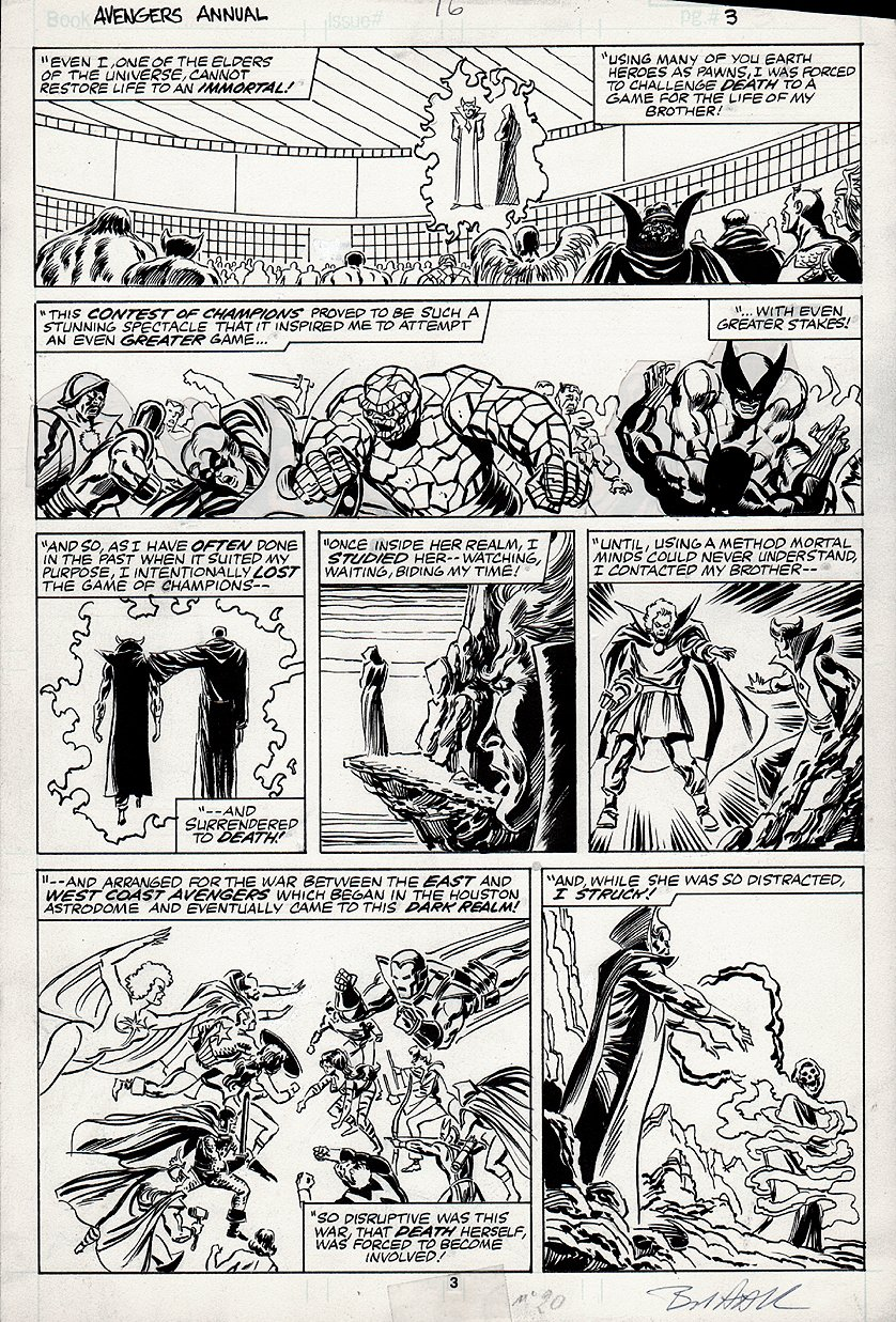 Avengers Annual #16 p 3 (CONTEST OF CHAMPIONS FLASHBACK) 1987