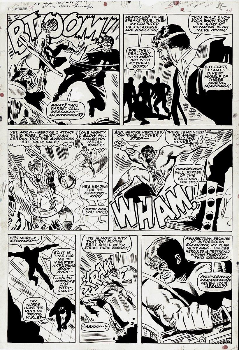 Avengers #39 p 18 (Large Art) 1966