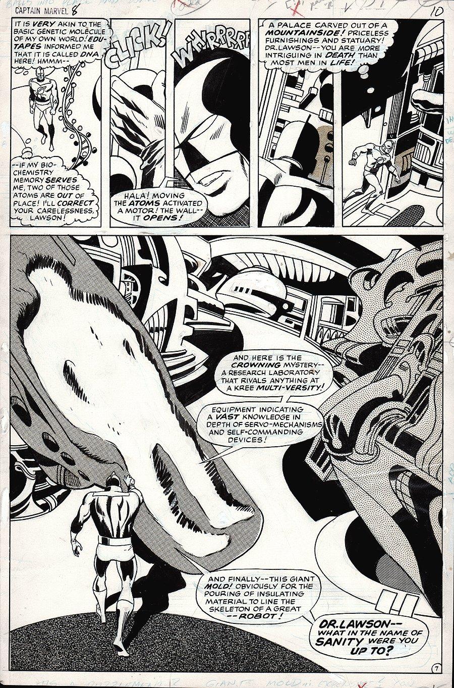 Captain Marvel #8 p 7 SPLASH (1968)