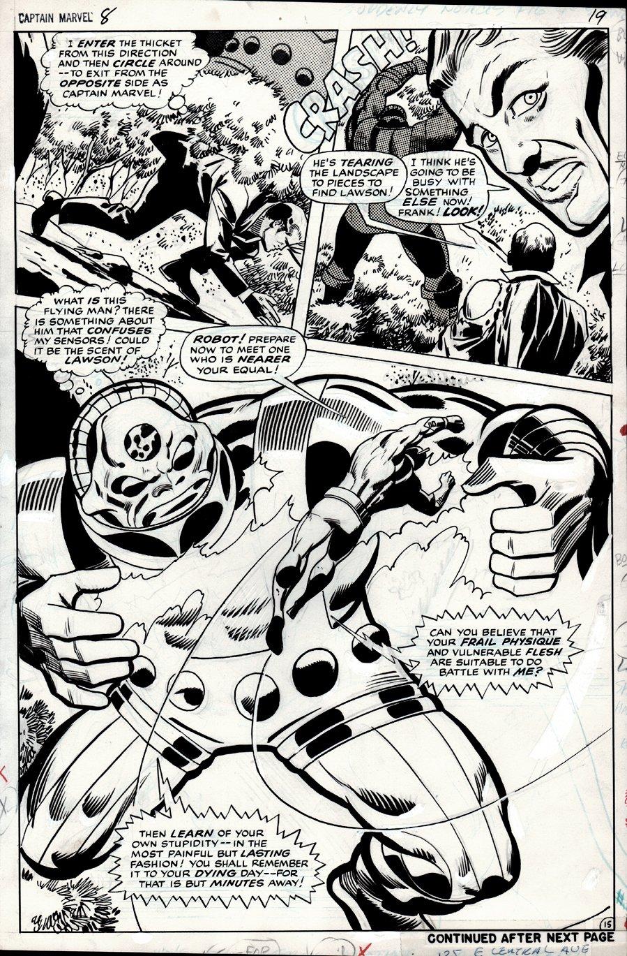 Captain Marvel #8 p 15 SPLASH (1968)