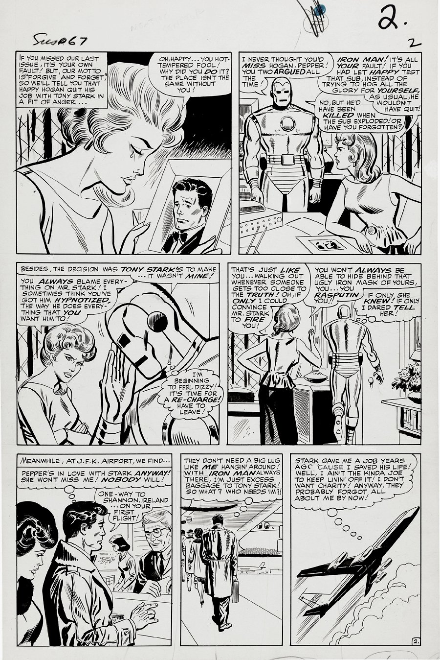 Tales of Suspense #67 p 2 (Large Art) 1964