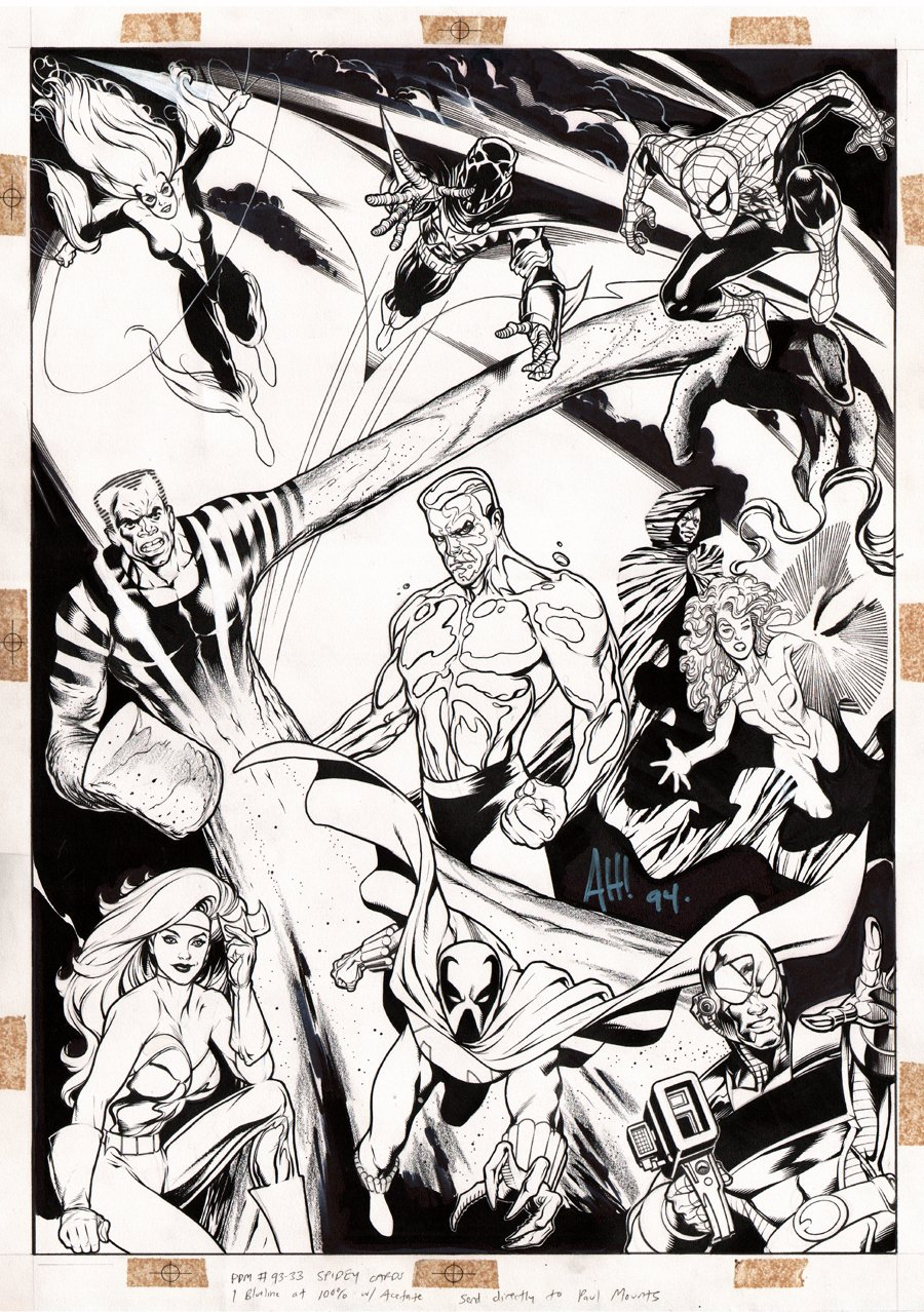 HUGE Spider-Man Poster Art For Spider-Man Card Set (1994)