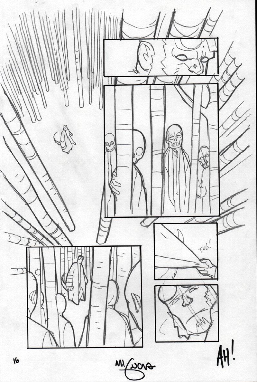 Hellboy: Krampusnacht #1 Detailed Pencil Page 16 (2017)
