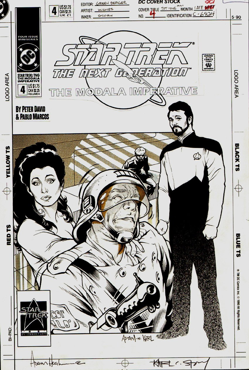 Star Trek: The Next Generation #4 Cover (1991)