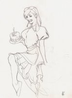 Alice In Wonderland Pinup Comic Art