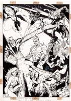 HUGE Spider-Man Poster Art For Spider-Man Card Set (1994) Comic Art
