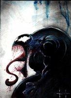 Venom Painting (Very Detailed) Comic Art