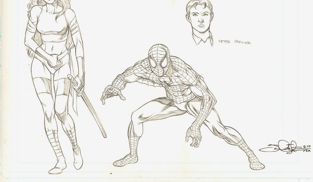 Marvel Style Guide: Spider-Man, Elektra, Peter Parker (2000)