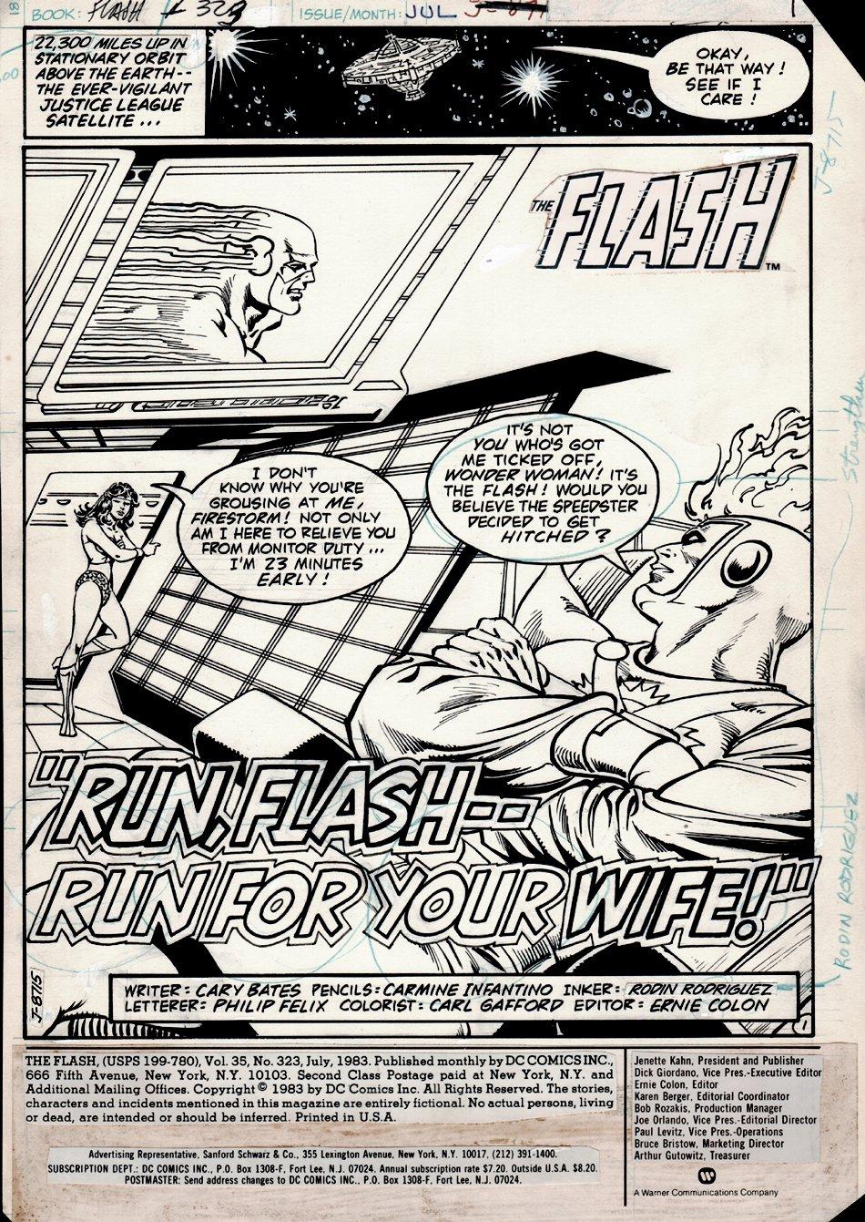 Flash #323 p 1 SPLASH (1983)
