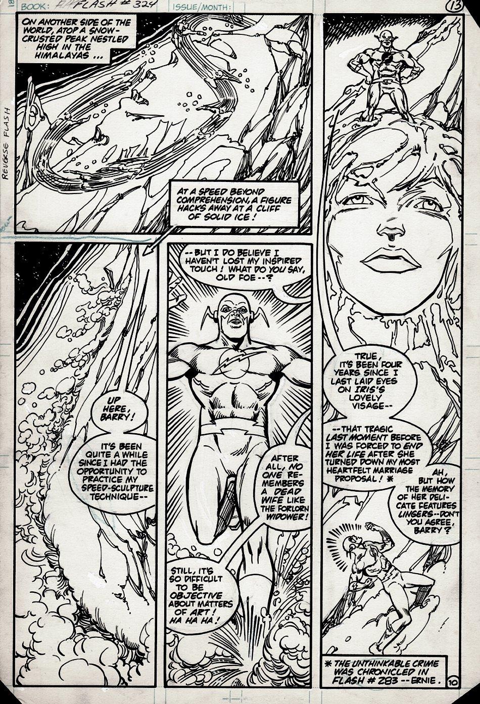 Flash #324 p 10 (FLASH VS REVERSE FLASH...& HIS DEATH STORY) 1983