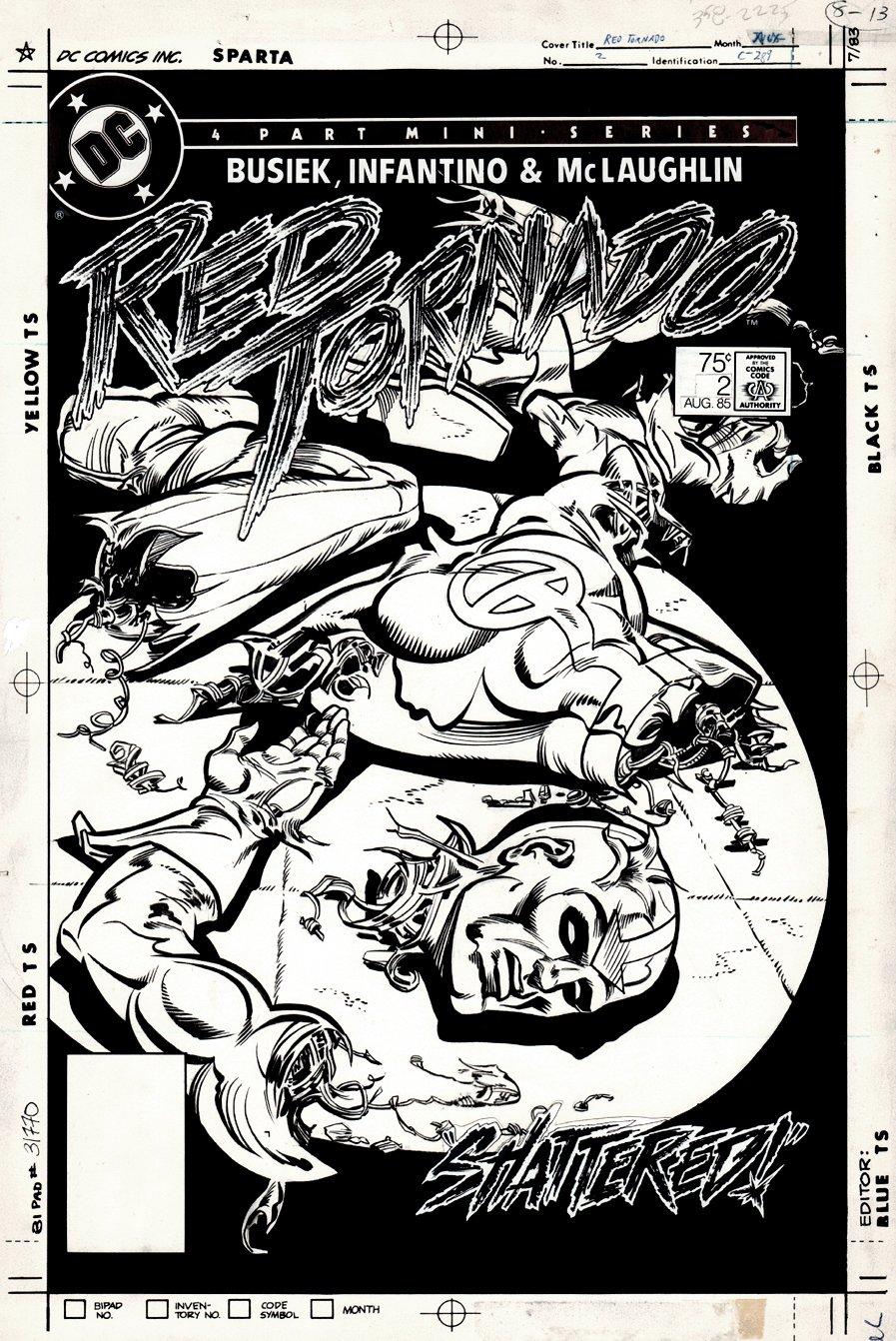 Red Tornado #2 Cover (1985)