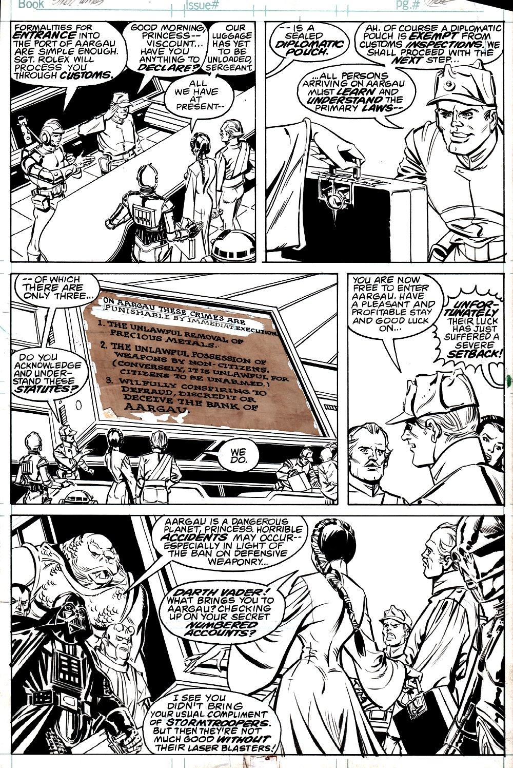 Star Wars #48 p 3 (Darth Vader VS Leia, C3PO) 1981