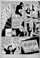 Golden Age Green Lantern #39 p 3 (Published in Green lantern #88) Large Art 1949 Comic Art