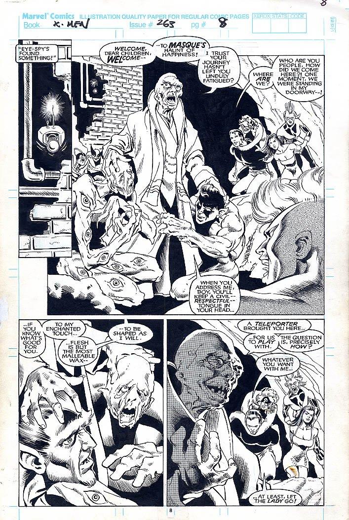 Uncanny X-Men #263 p 8 SPLASH (1990)