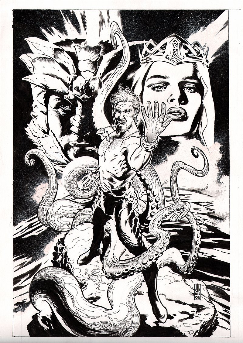 Aquaman: The Waterbearer #1 cover (Large Art) 2003